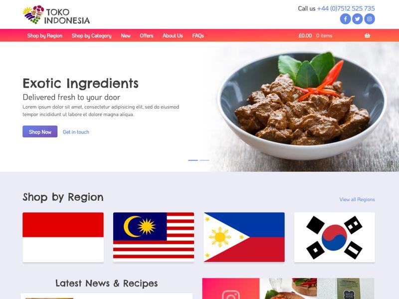 Toko Indonesia - website